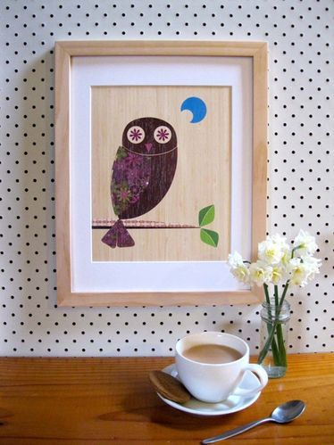 Native+Creative++:+Native+NZ+Owl+(Ruru)+Print+on+Bamboo+Veneer