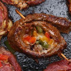 Steak Fajita Rolls by Tasty