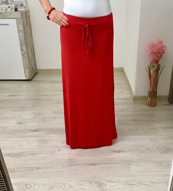 Maxi sukňa dlhá červená