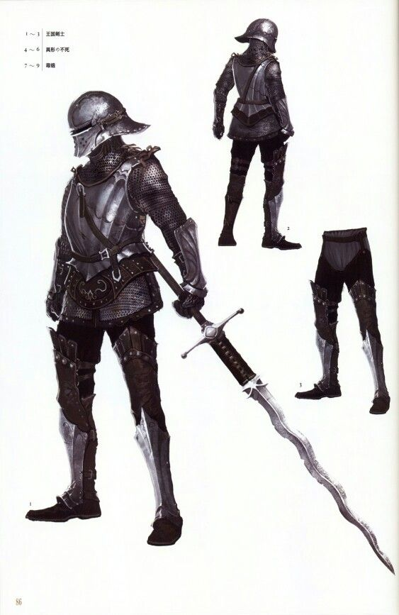 Royal Swordsman set with greatsword. Wish the sword we got in game was as big as what they carry.