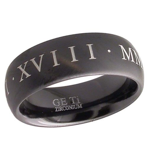 Personalized Roman Numeral Rings Uk