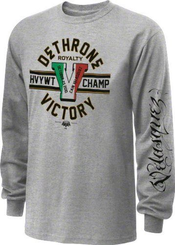 Dethrone Royalty Cain Velasquez Victory Long Sleeve T-shirt - Ash (X-Large) by Football Fanatics. $33.99. When you are a fan of MMA fighter Cain Velasquez it is imperative that you have the right threads to cheer him on. Brought to you by Dethrone, this Dethrone Heathered Grey Cain Victory Long Sleeve T-Shirt will help you cheer on your favorite fighter. Features screen print graphics and official Dethrone logo.
