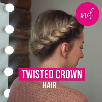 TWISTED CROWN HAIR