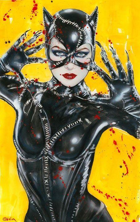 Tweeterhead Batman Returns Catwoman Statue Olivia De Berardinis Lithograph
