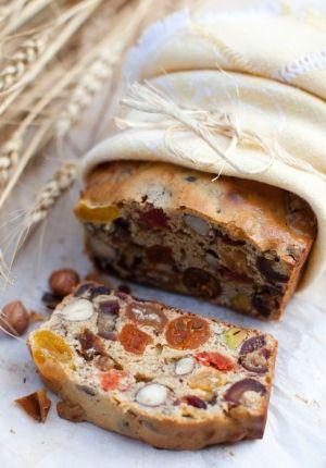 ♔ Autumn fruit & nuts tea bread