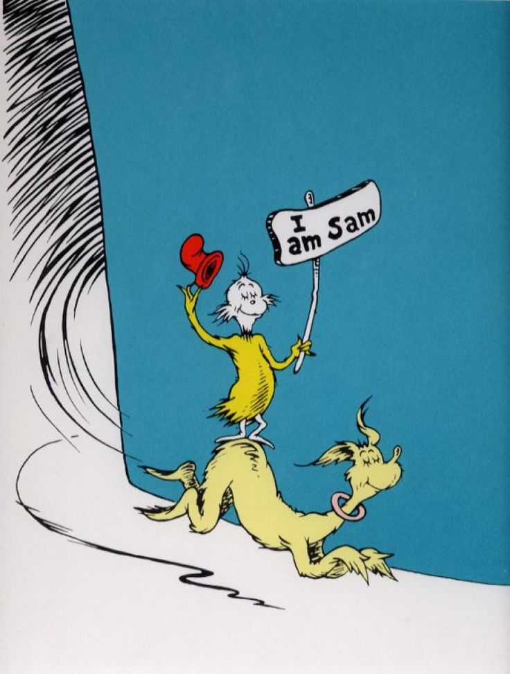 I Am Sam 1999 by Dr. Seuss - Serigraph on Cotton Paper