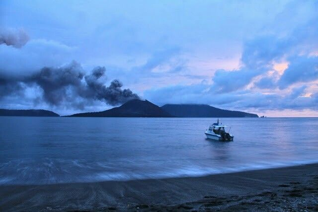 Sunset at Mt. Krakatau