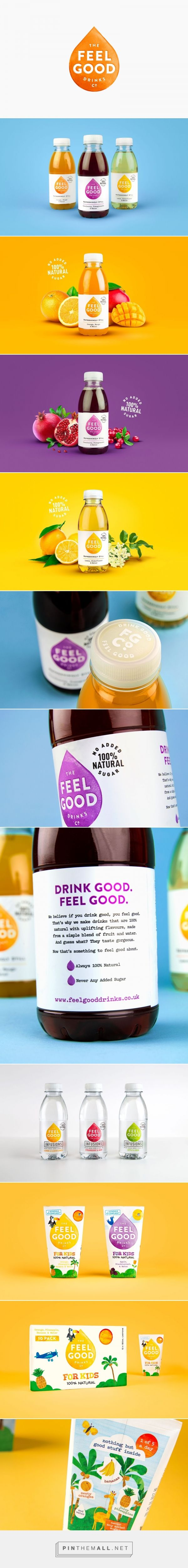 Feel Good drinks packaging design by Robot Food - http://www.packagingoftheworld.com/2017/10/feel-good.html