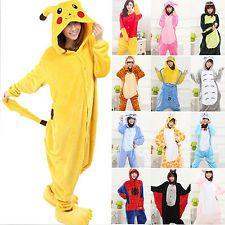 Animal Pajamas Adults Fleece Jumpsuit Nightwear Hoodies Men Loungewear Sleepwear