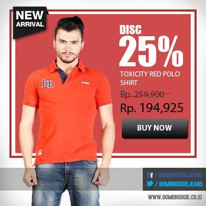Pilih Polo shirt untuk outif mu hari ini guys. Selagi diskon 25%, order sekarang di: www.bombboogie.co.id