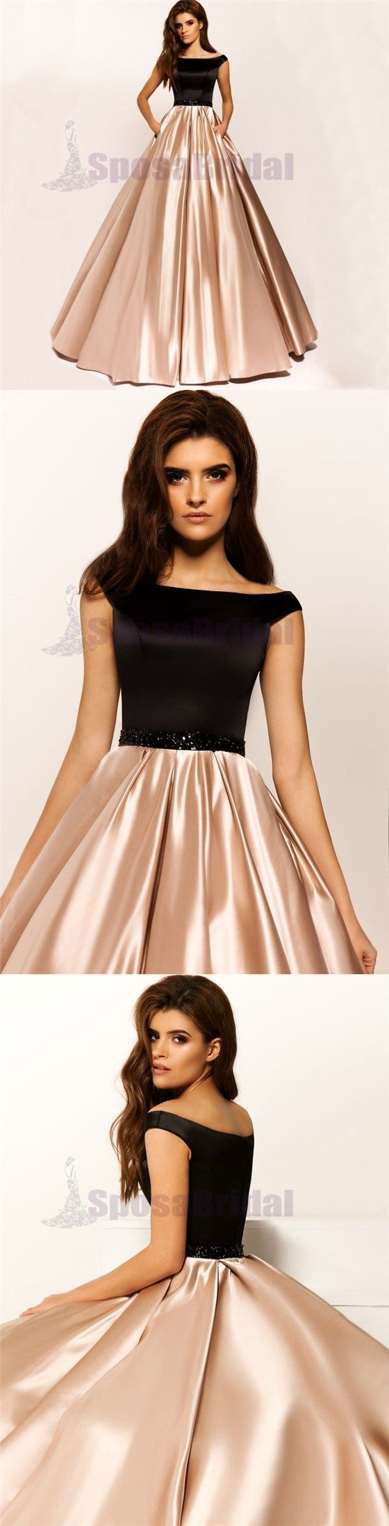 Long A Line Elegant Formal Gorgeous Most Popular Cheap Satin Simple Sparkly Prom Dresses, PD0554