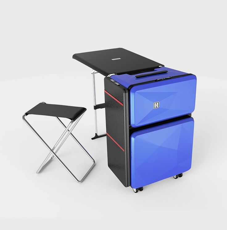 Transformative Travel Suitcases - The 'Transformers' Luggage Doubles as a Seat, a Desk and Cabinet (GALLERY)