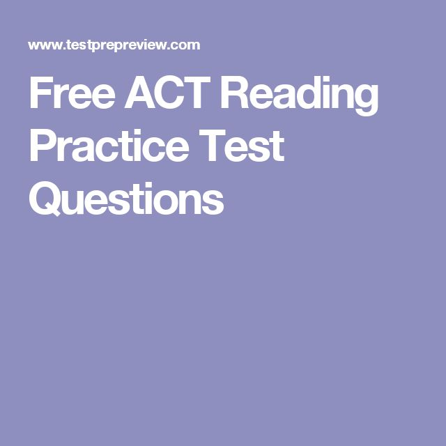 Free ACT Reading Practice Test Questions