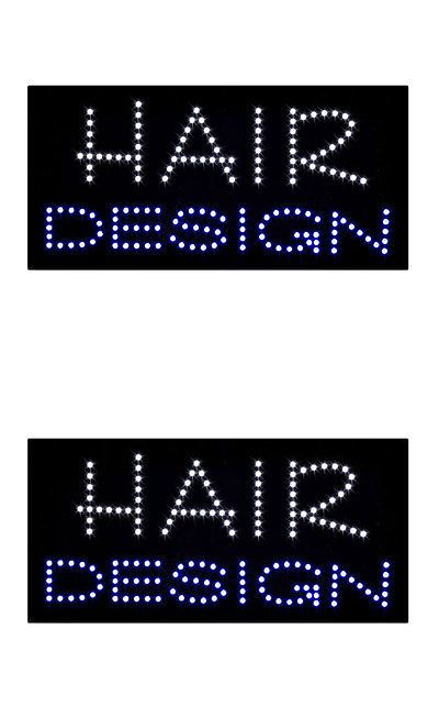 Salon and Spa Supplies: New Led Hair Design Animated Light Sign Salon Cut Flashing Window Display Neon BUY IT NOW ONLY: $50.99