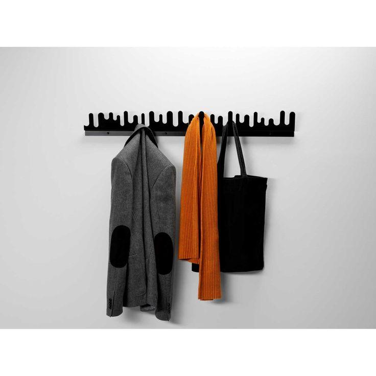 Wave knagerække 2-pak, sort från Design House Stockholm - Køb møbler online på ROOM21.dk