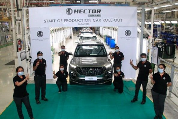 Mg Hector Plus Production Begins In 2020 Suv Premium Cars