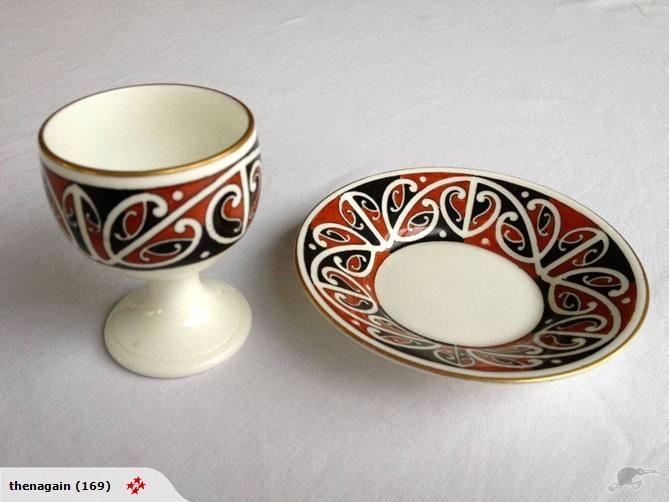 Rare 1907 Royal Doulton Maori Egg Cup & Underplate | Trade Me
