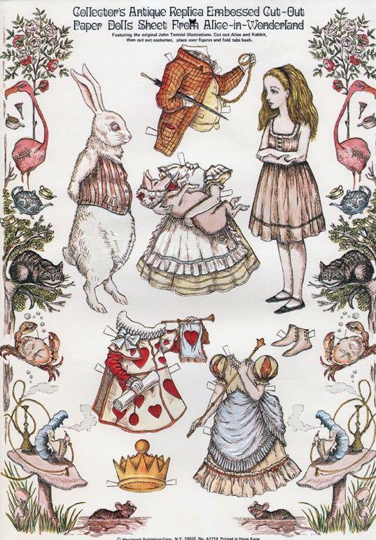 Alice in Wonderland Paper Dolls