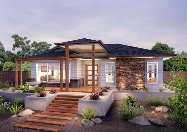 Brick, timber, weatherboard, render combo