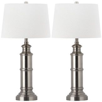 """Found it at Wayfair Supply - Safavieh Mariner 30.5"""" H Table Lamp with Bell Shade (Set of 2)http://www.wayfairsupply.com/Safavieh-Mariner-30.5-H-Table-Lamp-with-Bell-Shade-FV54317.html?refid=SBP"""