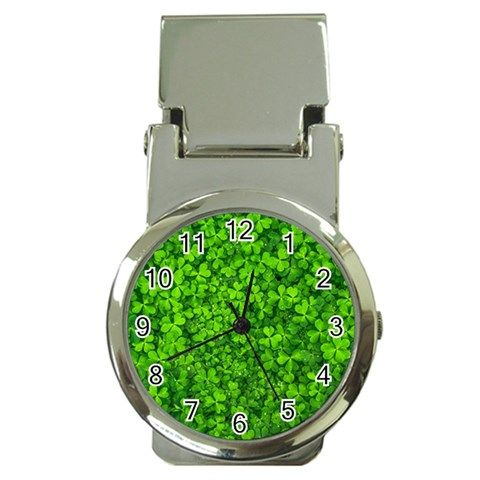 Shamrock+Clovers+Green+Irish+St++Patrick+Ireland+Good+Luck+Symbol+8000+Sv+Money+Clip+Watches