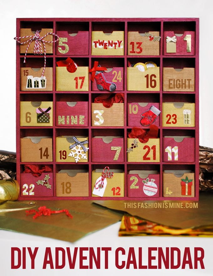 Diy Reusable Advent Calendar : So here s a new diy tutorial to get you in the festive