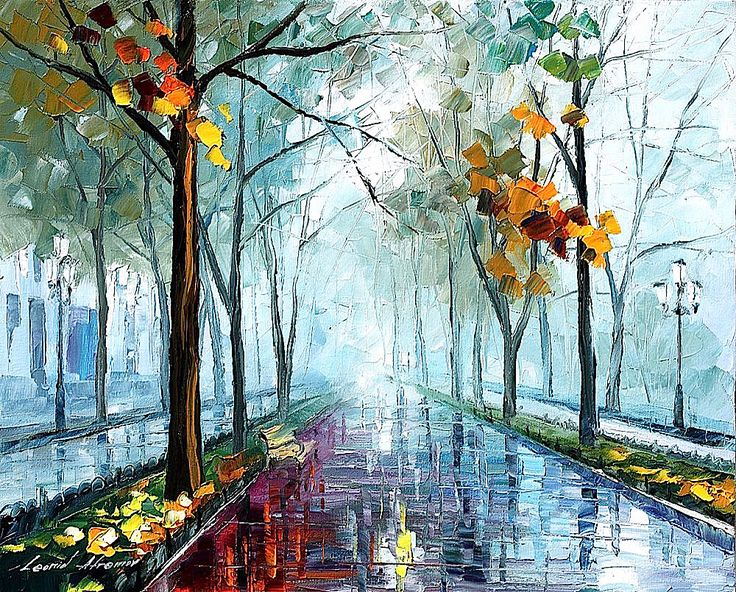 RAINY DAY - Oil painting by Leonid Afremov. One day offer - $89 include shipping https://afremov.com/RAINY-DAY-PALETTE-KNIFE-Oil-Painting-On-Canvas-By-Leonid-Afremov.html?bid=1&partner=20921&utm_medium=/offer&utm_campaign=v-ADD-YOUR&utm_source=s-offer