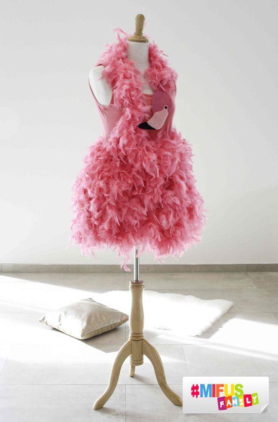 Last Minute Flamingo Kostüm - Fastnachtskostüm schnell selbst gemacht