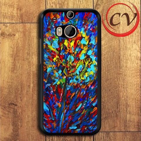 Flower HTC One M8 Mini Black Case