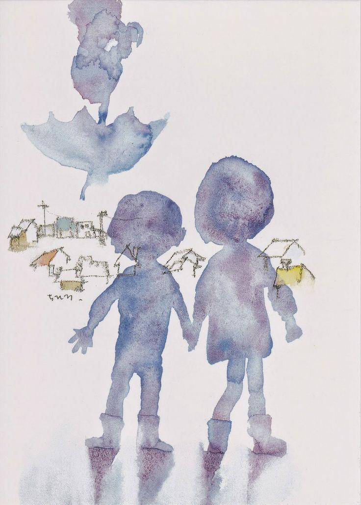 Chihiro_Iwasaki .watercolour .So simple, So clever so beautiful.