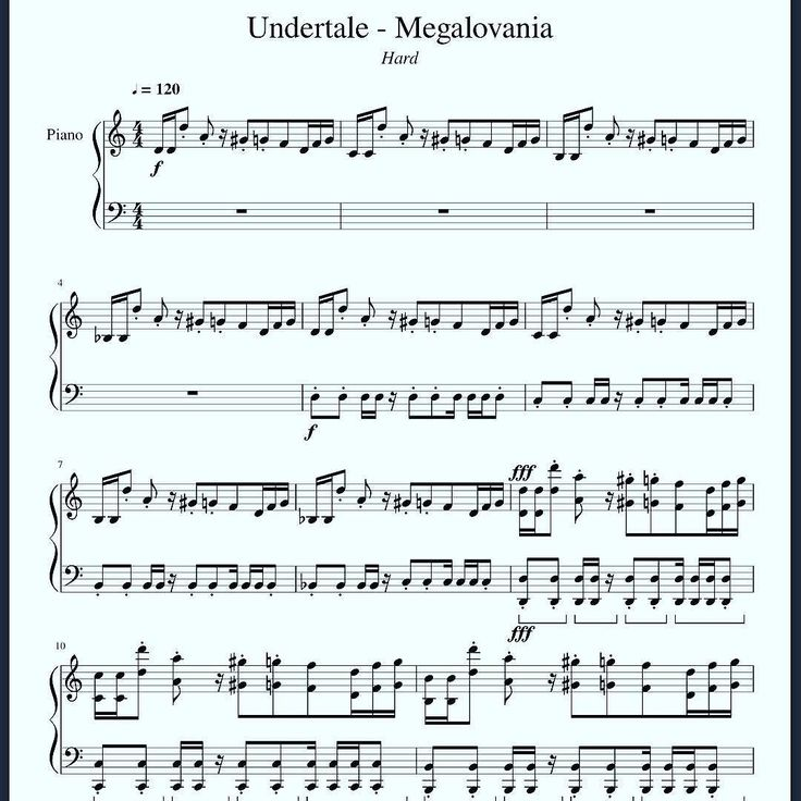 I'm trying to learn my favorite Undertale songs on the piano, including this one! ;) By the way notice the fortississimo (fff). Just how I like it!