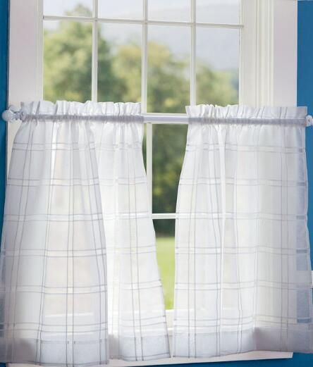 Window pane sheer tier curtains and caf curtains country for Ikea cafe curtains