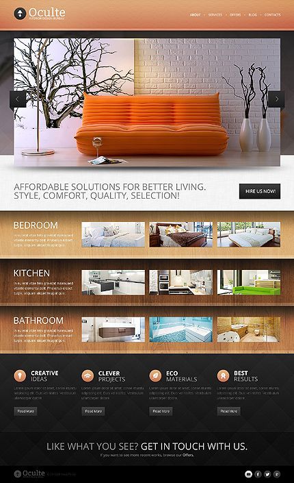Interior & Furniture inspirations at the Coffee Break? Browse for more Interior & Furniture and Drupal templates! // Regular price: $67 // Unique price: $4100 // Sources available: .PSD, .PHP // #InteriorFurniture #Drupal #templates #design #bureau