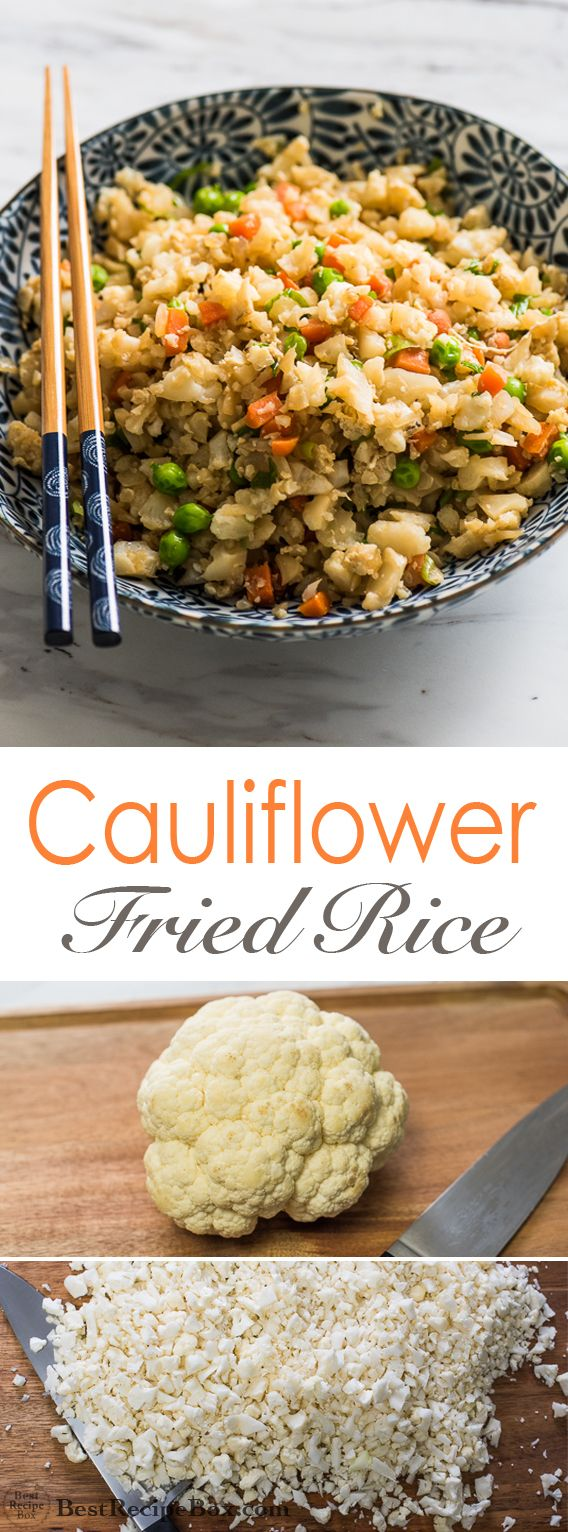 Cauliflower Fried Rice Recipe--I used Green Giant Cauliflower Rice Veggie Medley and Green Giant Cauliflower and Sweet Potato Rice instead of ricing everything myself. Those two bags made double the recipe so adjust other ingredients accordingly