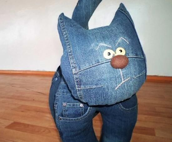 Click through for a host of soft toys  made of old jeans
