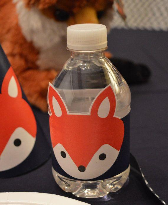 INSTANT DOWNLOAD Printable Fox Head Water by PrintablePartiestoGo, $5.00