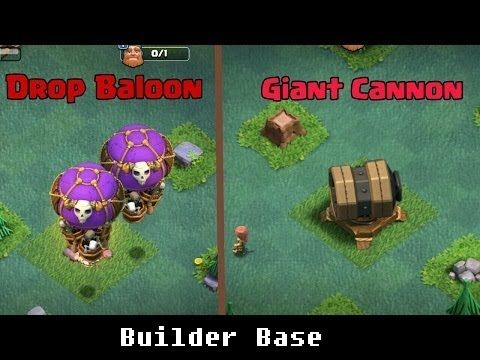 Drop Ship and Giant Cannon - BRAND NEW COC UPDATE 2017⚔