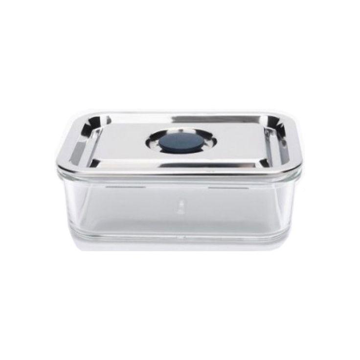 279:- Glasmatlåda med rostfritt lock, 0.8 liter - Onyx - Onyx Containers - Ekologiska leksaker - GoodforKids