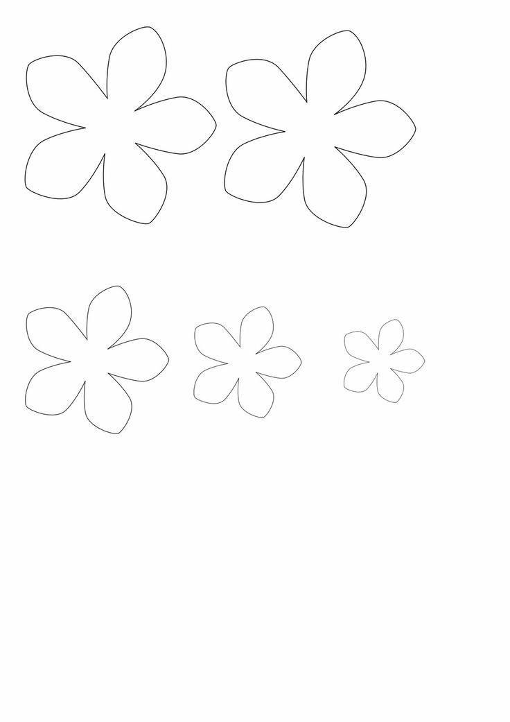 24 best print images on Pinterest Fabric flowers, Felt flower - flower petal template