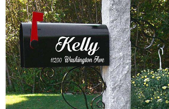 Personalized Mailbox-Custom Mailbox Decals-Name Mailbox