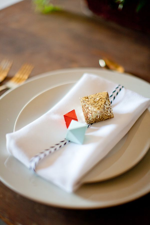 geometric place setting // design by Primary Petals, photos by Scott Michael Photography