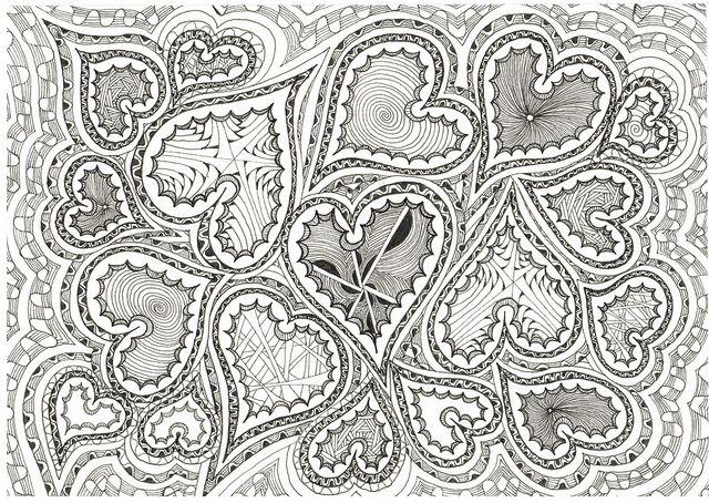 HEARTS DOODLE By Judys Creative Doodling Via Flickr
