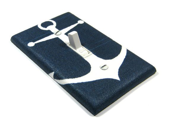 Hey, I found this really awesome Etsy listing at https://www.etsy.com/listing/190108214/navy-blue-anchor-light-switch-cover