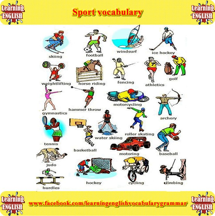Sports Vocabulary for English Learners - ThoughtCo