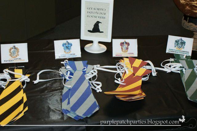 HOGWARTS / Harry Potter Birthday Party Ideas | Sorting