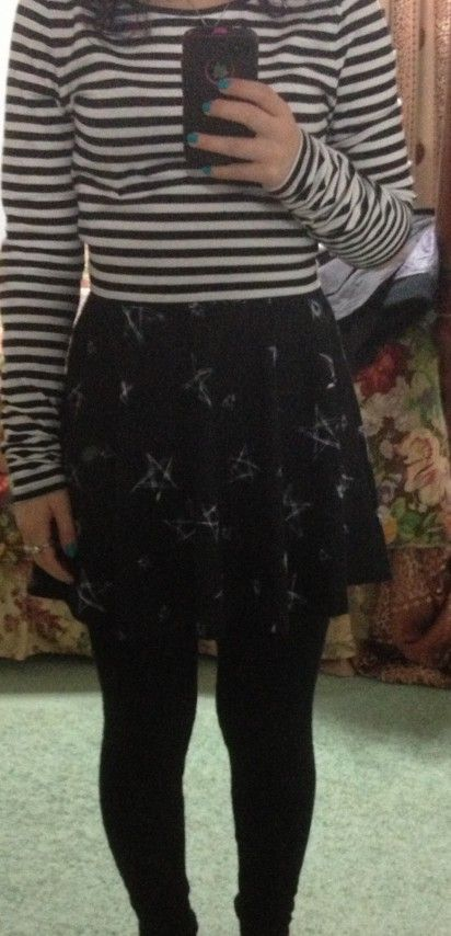 So my friend says my outfot looks like a gothic skater teen. Agree or disagree?