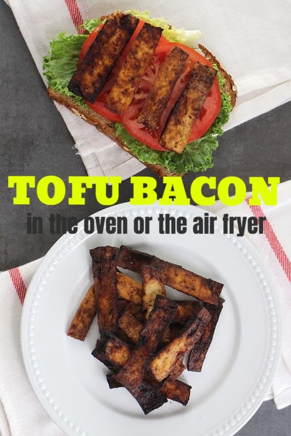 Balsamic Tofu Bacon In The Oven Or The Air Fryer Glue Glitter Recipe Tofu Recipes Vegan Vegan Recipes Easy Tofu Recipes