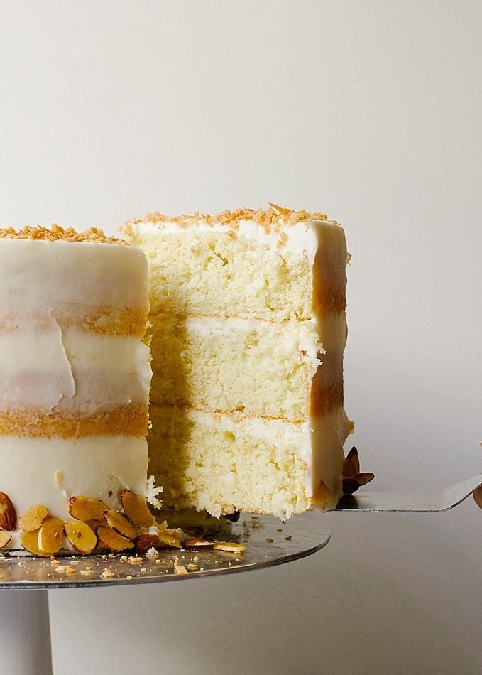 Almond Coconut Cake Recipe Almond Coconut Cake Spring Cake