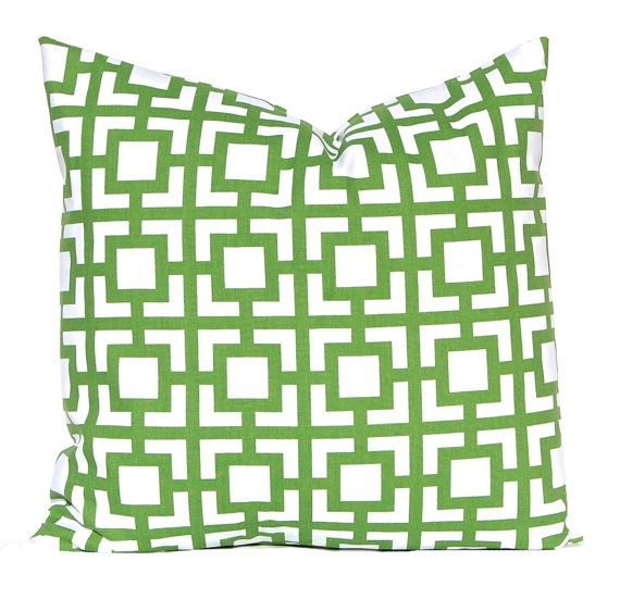 euro sham kelly green pillows pillow covers throw pillow covers green cushion covers kelly green greek key st day decor