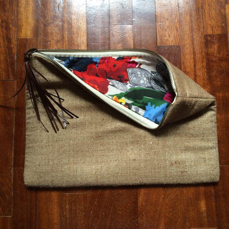 linen and silk pochette